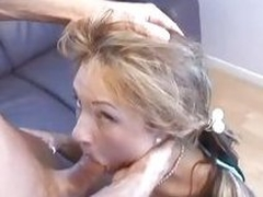 Amy Reid grabbed wits head and throat fucked with cock