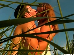 Check out our seductive redhead knockout getting fucked outdoors