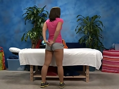 Sexy eighteen year old gets fucked hard by her massage therapist