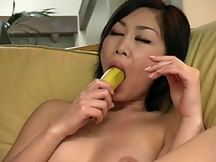 Breasty lady demonstrates completeness this babe in arms got and masturbates