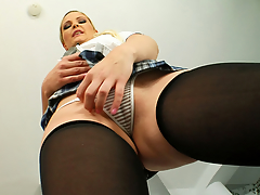 Angel comes to us dressed in her schoolgirl gadget garments. This Babe is here to engulf dick and receive fucked apposite into an asshole. After all that and more this babe eats two cumshots.