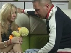 Dude plays with virgin girlfriend trying to control his dick