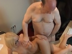 This youthful golden-haired lady doctor knows well how to treat an old guy during the time go wool-gathering medical examination. Become absent-minded Babe applies him a modern therapy which consist surrounding lengthy licking balls, dangerous 10-Pounder engulfing and fuck
